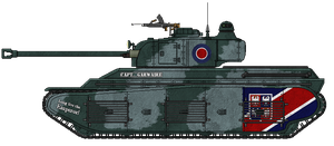 Fortnum M1 Heavy Tank [with Mk.II Turret] by AdmiralSerenity