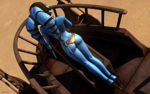Aayla Secura sexy by nemecsekerno
