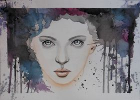 Watercolour  Girl II by Szabeli