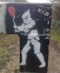 Stormtrooper 'Party' stencil by edgeorge92