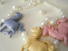 Polymer Clay Unicorn Charms by alliemattable