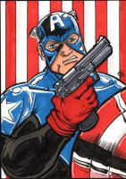 Bucky Cap America sketchcard by The-Standard