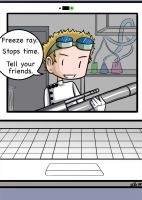 Freeze Ray Stops Time by gwingangel