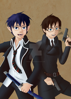 The Brothers Blue by BuddhaTeddy