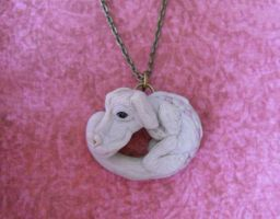 Falcor sculpture pendant by rude-and-reckless
