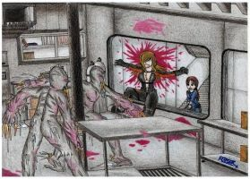 Resident evil revelations-Death of Rachel by raptorthekiller