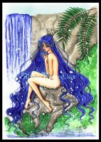 Lady Of The Waterfall by silver-eyes-blue