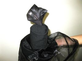 Gothic Black Veiled Lily by VandLee