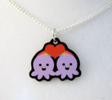 Octopus Love Necklace by egyptianruin