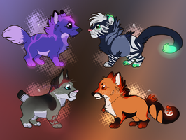 Several adopts: OPEN by fhavulous-adopts