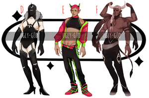 Bara Demon Adopts [OPEN AUCTION] by ugly-g0d
