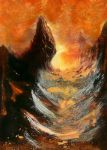 MTG Mountain 4 [paint over] by Nergling