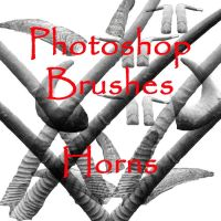 Photoshop Horn brushes - set 1 by firebug-stock