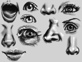 features practice by ByunCaricature