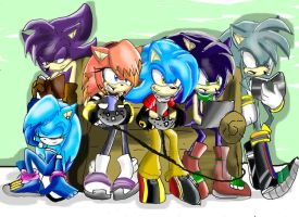 busy hedgehogs. by Blinded-Djinn