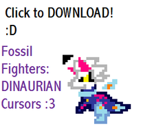Fossil Fighters: DINAURIAN Cursors by ass-pen