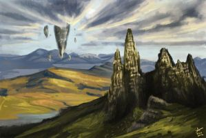 Old Man of Storr - Highlands Speedpainting by Piky
