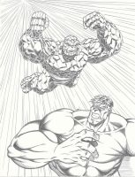 Hulk vs Thing 2 by LakLim
