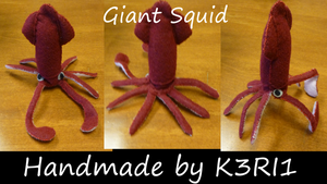 Giant Squid Plush by K3RI1