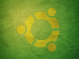 Green Paper Ubuntu yellow by azzza