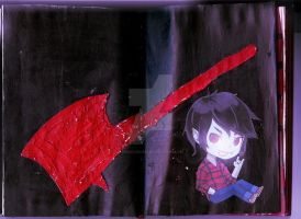 Marshall Lee Altered Book page 2 by RedSilence33