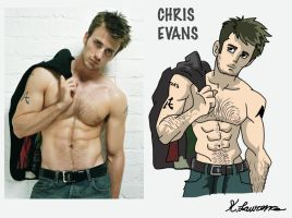 Chris evans by ObsidianWolf7