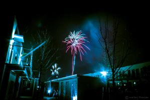 fire works in cold skyes. by mortenthoms