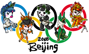 The Olympic Fuwa by Tabbzicats