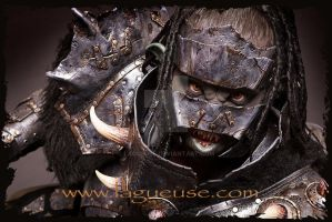 leather armor female orc by Lagueuse