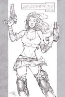 Aphrodite ix Sketch by Carl-Riley-Art