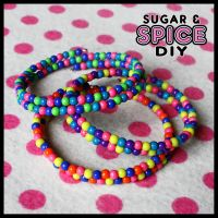 Kandi Kid Rainbow BUBBLE KANDI CUFFS by SugarAndSpiceDIY