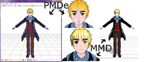 MMD Newcomer WIP - Melt England [Help needed] by PhantomPhan14