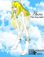Aura the girl from the sky by piojote