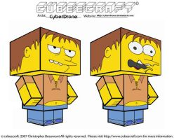 Cubeecraft - Barney Gumble by CyberDrone