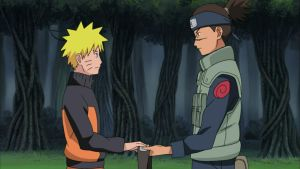 Iruka gives Naruto a headband before traps him by TheBoar