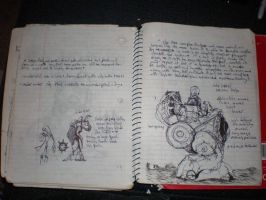 Blackspiral notebook pg 17 by JohnnyStafford