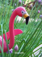 Pink Flamingo's by Oinkment
