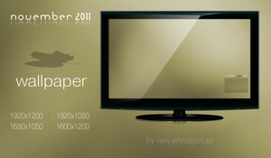 November 2011 Desktop Calendar by NayaDesigns