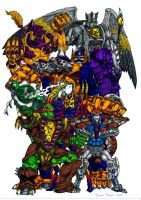 Beast Wars Maximals Color by ven0n