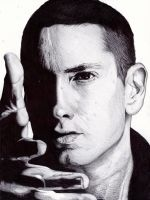 Pen Drawing Of Eminem Freehand by demoose21
