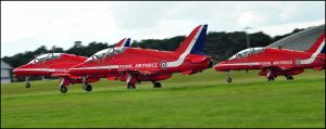 Red Arrows Take off 2 / FAS 2012 by Somebody-Somewhere