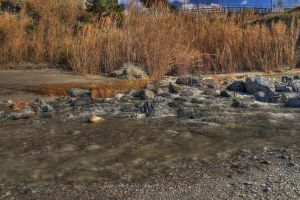 River sand - HDR by yoctox