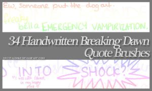 34 Breaking Dawn Brushes by crystalsmile