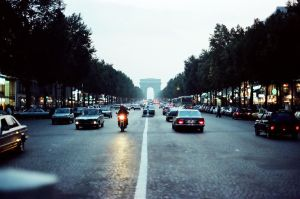 Dusk at the Champs-Elysees by aperture24