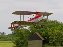 Barnstorming Tiger Moth - Old Warden Airshow by davepphotographer