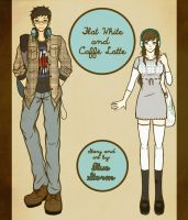 Flat White and Caffe Latte (Cover Art) by BlueStorm-Studio
