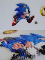 Sonic the Hedgehog bead sprite by 8bitcraft