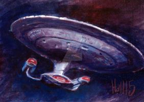 Star trek TNG sketch 9 by charles-hall