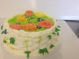 Floral Cake (Another angle) by skittysango