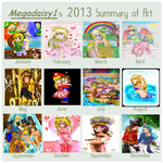 2013 Summary of Art by megadaisy1